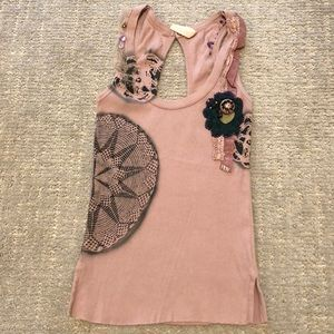 Sparkle and fade, Anthropologie detailed tank, S